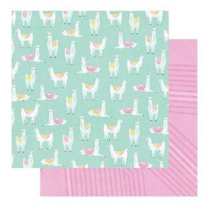 PROMO de -30% sur Papier imprimé Color Fresh LLAMA DRAMA Heidi Swapp