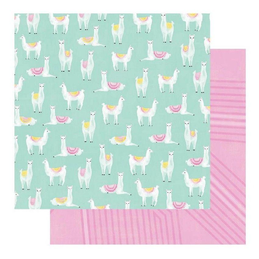 PROMO de -50% sur Papier imprimé Color Fresh LLAMA DRAMA Heidi Swapp