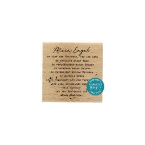Tampon bois allemand MEIN ENGEL par Florilèges Design. Scrapbooking et loisirs créatifs. Livraison rapide et cadeau dans chaq...