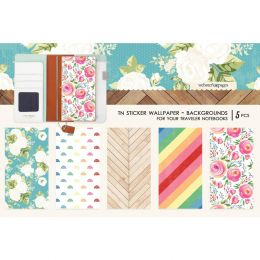 Stickers wallpaper pour Traveler's Notebook COLOR BACKGROUND