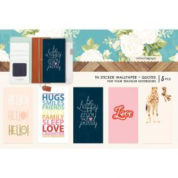 Stickers wallpaper pour Traveler's Notebook COLOR QUOTE