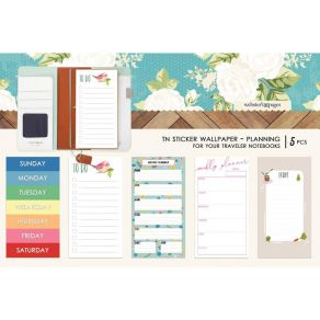 Stickers wallpaper pour Traveler's Notebook COLOR PLAN