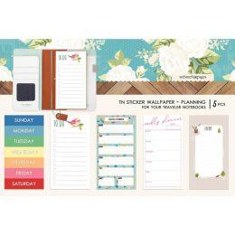 Stickers wallpaper pour Traveler's Notebook COLOR PLAN
