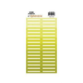 Stickers Mini Z'étiquettes VERT ANIS par Ephéméria. Scrapbooking et loisirs créatifs. Livraison rapide et cadeau dans chaque ...