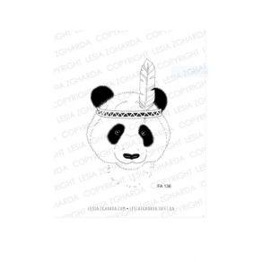Tampons clear TRIBAL PANDA-BOY par Lesia Zgharda. Scrapbooking et loisirs créatifs. Livraison rapide et cadeau dans chaque co...