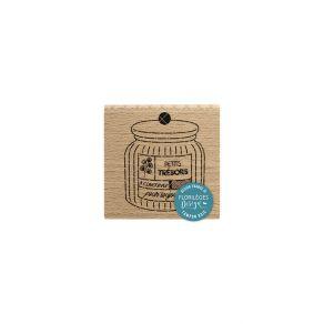 Tampon bois BOCAL À TRÉSORS par Florilèges Design. Scrapbooking et loisirs créatifs. Livraison rapide et cadeau dans chaque c...