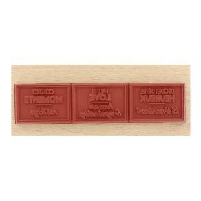 Tampon bois COLLECT MOMENTS par Florilèges Design. Scrapbooking et loisirs créatifs. Livraison rapide et cadeau dans chaque c...