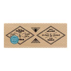 PROMO de -99.99% sur Tampon bois ÉTIQUETTES LOSANGES Florilèges Design