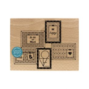 Tampon bois 5 CADRES par Florilèges Design. Scrapbooking et loisirs créatifs. Livraison rapide et cadeau dans chaque commande.
