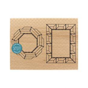 PROMO de -99.99% sur Tampon bois CADRES CHARLESTON Florilèges Design