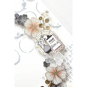 Tampon bois BOARD DÉCO par Florilèges Design. Scrapbooking et loisirs créatifs. Livraison rapide et cadeau dans chaque commande.