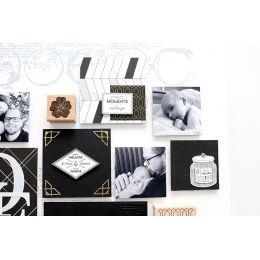 Tampon bois ART DÉCO par Florilèges Design. Scrapbooking et loisirs créatifs. Livraison rapide et cadeau dans chaque commande.
