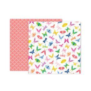 PROMO de -50% sur Papier imprimé Horizon N°7 Pink Paislee