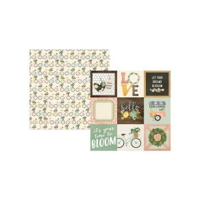 PROMO de -30% sur Papier imprimé Spring Farmhouse 4X4 ELEMENTS Simple Stories