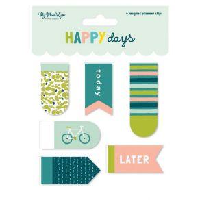 Clips magnétiques HAPPY DAYS par My Mind's Eye. Scrapbooking et loisirs créatifs. Livraison rapide et cadeau dans chaque comm...