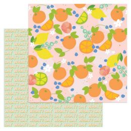 Papier imprimé à motifs métallisés Tutti Frutti AMBROSIA