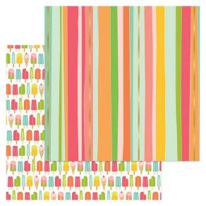 Papier imprimé à motifs métallisés Tutti Frutti CHEER CHERRY par My Mind's Eye. Scrapbooking et loisirs créatifs. Livraison r...