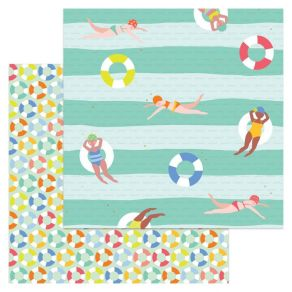 PROMO de -30% sur Papier imprimé métallisé Tutti Frutti SWIMING TIME My Mind's Eye