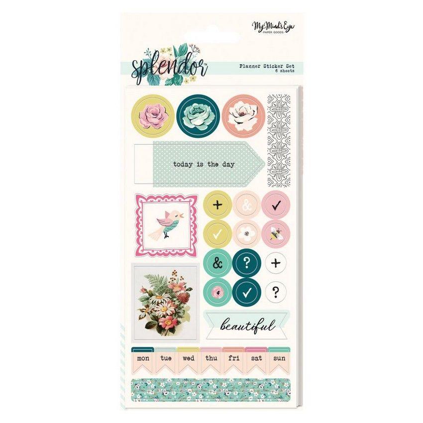 Commandez Set de 6 planches de stickers SPLENDOR My Mind's Eye. Livraison rapide et cadeau dans chaque commande.