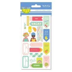 Set de 6 planches de stickers TUTTI FRUTTI