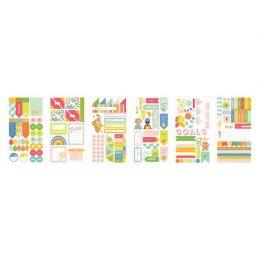 Set de 6 planches de stickers TUTTI FRUTTI