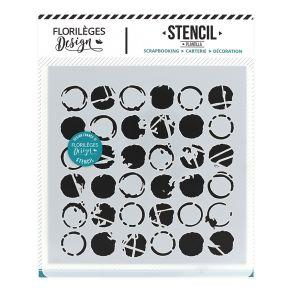 Pochoir MULTI DOTS par Florilèges Design. Scrapbooking et loisirs créatifs. Livraison rapide et cadeau dans chaque commande.