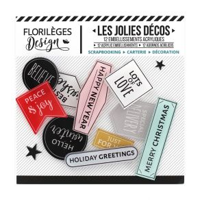 PROMO de -60% sur Décos HOLIDAY GREETINGS Florilèges Design
