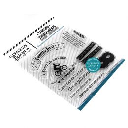 Tampons clear FAMILY FIRST par Florilèges Design. Scrapbooking et loisirs créatifs. Livraison rapide et cadeau dans chaque co...