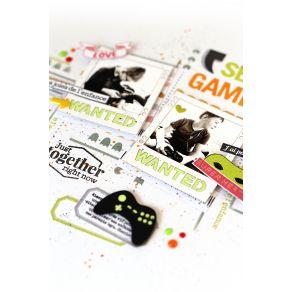 Pochoir GAME par Florilèges Design. Scrapbooking et loisirs créatifs. Livraison rapide et cadeau dans chaque commande.