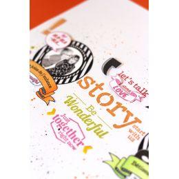 Tampon bois STORY par Florilèges Design. Scrapbooking et loisirs créatifs. Livraison rapide et cadeau dans chaque commande.
