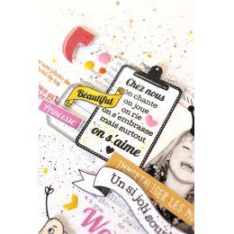 Tampon bois GRANDES BANNIÈRES par Florilèges Design. Scrapbooking et loisirs créatifs. Livraison rapide et cadeau dans chaque...
