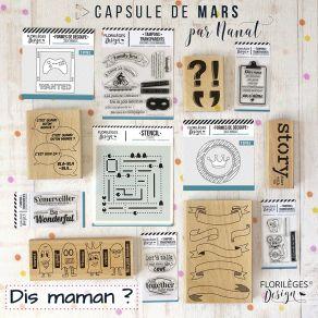 Pack complet capsule de Mars 2019 par Florilèges Design. Scrapbooking et loisirs créatifs. Livraison rapide et cadeau dans ch...
