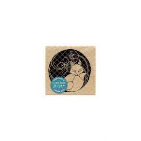 Parfait pour créer : Tampon bois KITSUNE par Florilèges Design. Livraison rapide et cadeau dans chaque commande.