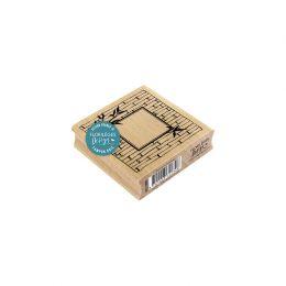 Tampon bois CADRE EN BAMBOU par Florilèges Design. Scrapbooking et loisirs créatifs. Livraison rapide et cadeau dans chaque c...
