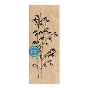 Tampon bois BAMBOU par Florilèges Design. Scrapbooking et loisirs créatifs. Livraison rapide et cadeau dans chaque commande.