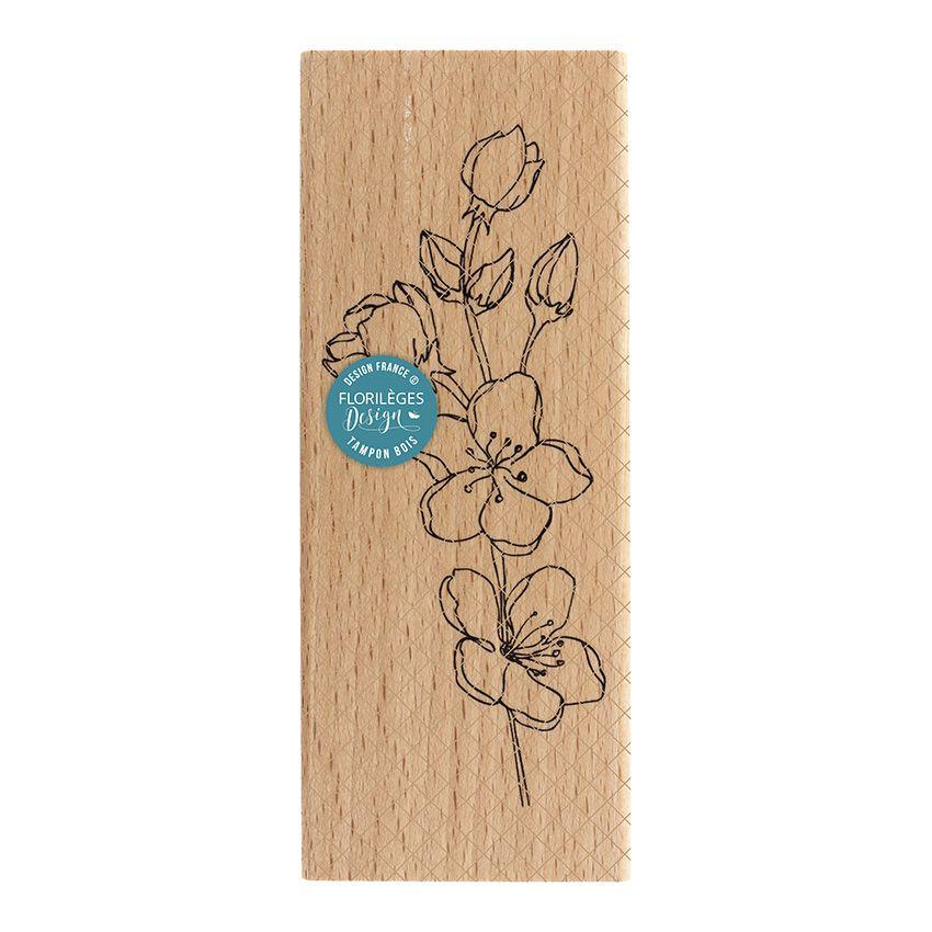 Tampon bois BRANCHE SAKURA par Florilèges Design. Scrapbooking et loisirs créatifs. Livraison rapide et cadeau dans chaque co...