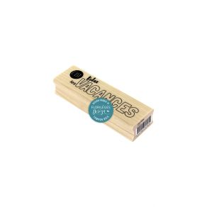 Tampon bois RELAX par Florilèges Design. Scrapbooking et loisirs créatifs. Livraison rapide et cadeau dans chaque commande.