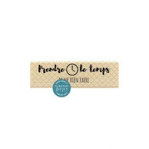 Tampon bois NE RIEN FAIRE par Florilèges Design. Scrapbooking et loisirs créatifs. Livraison rapide et cadeau dans chaque com...