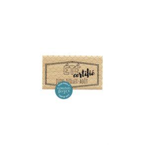 Tampon bois ÉTIQUETTE ÉTÉ par Florilèges Design. Scrapbooking et loisirs créatifs. Livraison rapide et cadeau dans chaque com...