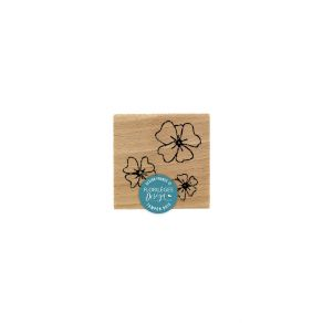Tampon bois TRIO DE FLEURS DES CHAMPS par Florilèges Design. Scrapbooking et loisirs créatifs. Livraison rapide et cadeau dan...
