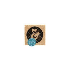 Tampon bois BLACK ESPERLUETTE par Florilèges Design. Scrapbooking et loisirs créatifs. Livraison rapide et cadeau dans chaque...