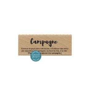 Tampon bois DÉFINITION par Florilèges Design. Scrapbooking et loisirs créatifs. Livraison rapide et cadeau dans chaque commande.