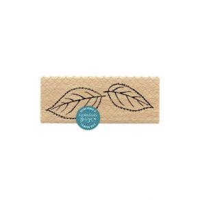 Tampon bois FEUILLES DE CERISIER par Florilèges Design. Scrapbooking et loisirs créatifs. Livraison rapide et cadeau dans cha...