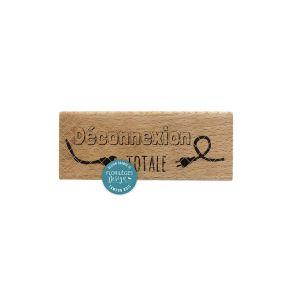 Tampon bois DÉCONNEXION par Florilèges Design. Scrapbooking et loisirs créatifs. Livraison rapide et cadeau dans chaque comma...