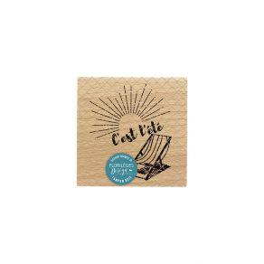 Tampon bois C'EST L'ÉTÉ 2 par Florilèges Design. Scrapbooking et loisirs créatifs. Livraison rapide et cadeau dans chaque com...