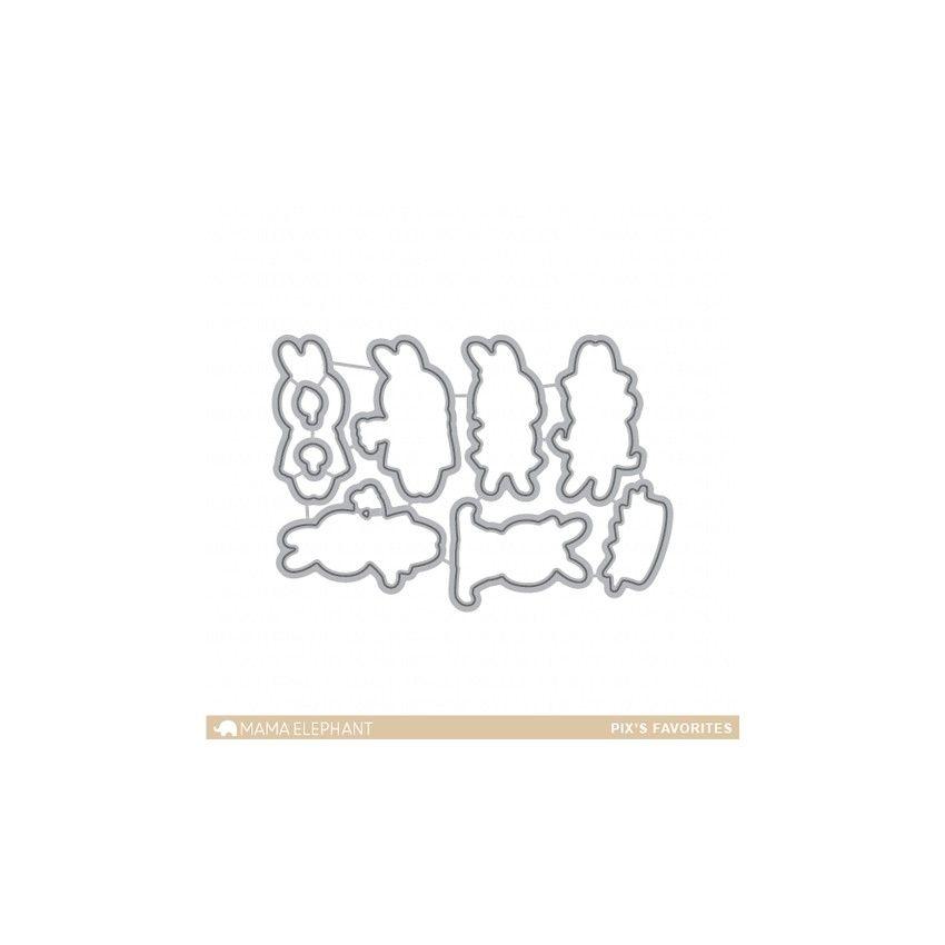 Outils de découpe PIX'S FAVOTIES par Mama Elephant. Scrapbooking et loisirs créatifs. Livraison rapide et cadeau dans chaque ...