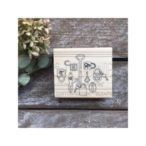 PROMO de -30% sur Tampon bois Esprit Brocante LOCKER Chou and Flowers