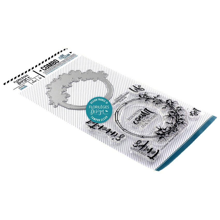 Combo Clear Die COURONNE DE BAMBOU par Florilèges Design. Scrapbooking et loisirs créatifs. Livraison rapide et cadeau dans c...