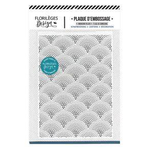 Plaque d'embossage SOLEIL LEVANT par Florilèges Design. Scrapbooking et loisirs créatifs. Livraison rapide et cadeau dans cha...