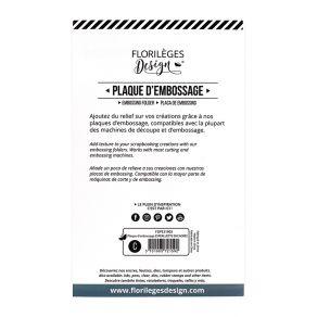 PROMO de -60% sur Plaque d'embossage ESPERLUETTE ENCADRÉE Florilèges Design
